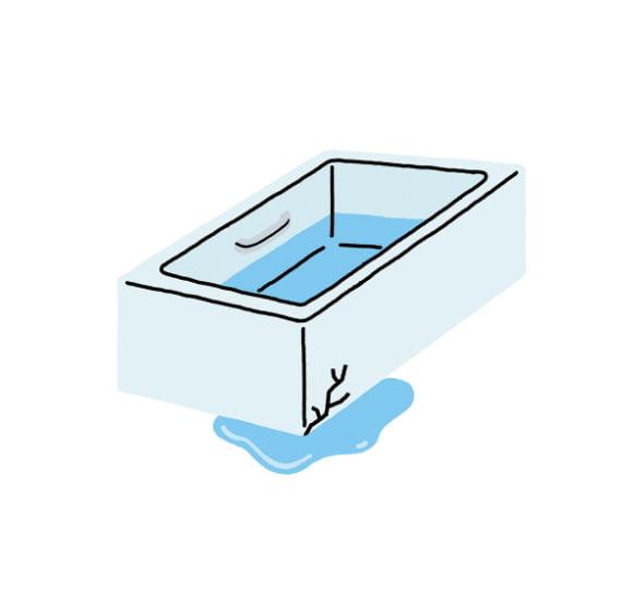 浴槽からの水漏れ