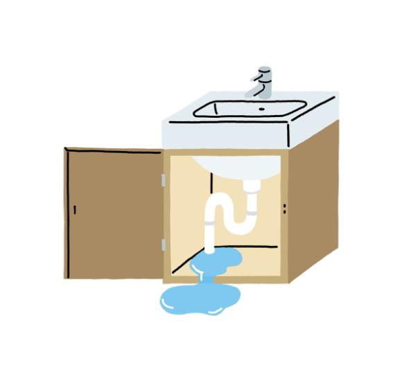 給排水からの水漏れ